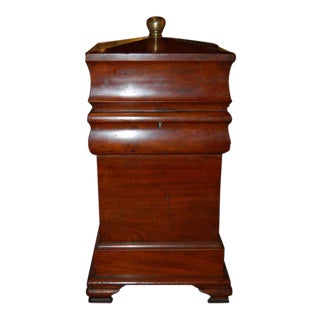 19th Century Tall Wooden Storage Box For Sale