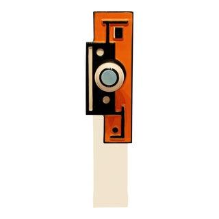 50s Mid Century Modern Orange & Lucite Table Sculpture Escutcheon Fernand Leger For Sale