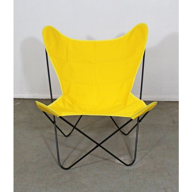 Black Mid-Century Modern Knoll Style Iron Butterfly Chair For Sale - Image 8 of 8