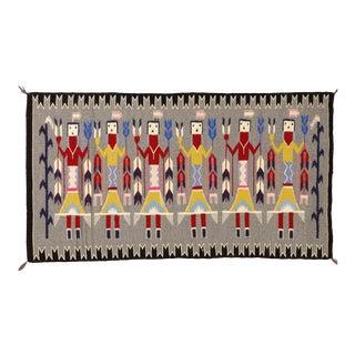 "Vintage Navajo Yei Rug, 1'11'' X 3'7"" For Sale"