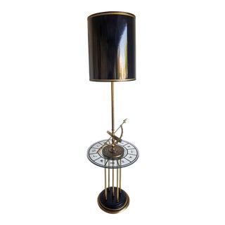 1960's Brass Armillary Astrological Floor Lamp For Sale