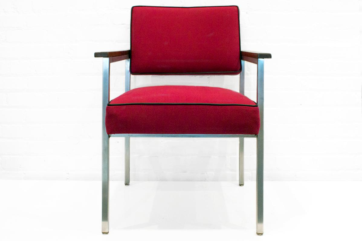 Vintage General Fireproofing Armchairs Set Of 3 Chairish