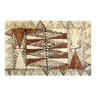 Vintage Handcrafted Tapa Cloth For Sale