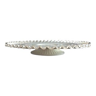 Fenton Silver Crest Cake Stand Plate For Sale