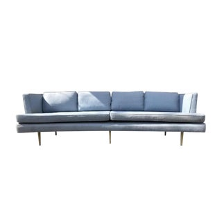 1950s Vintage Edward Wormley for Dunbar Curved Sofa For Sale