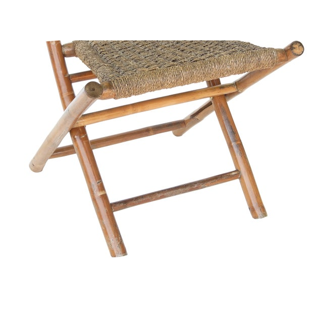 Traditional Folding Bamboo Chairs For Sale - Image 3 of 11