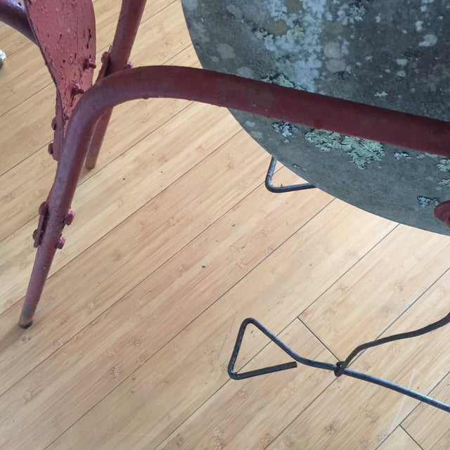Red Blacksmith Pedal Grinding Wheel For Sale - Image 10 of 10