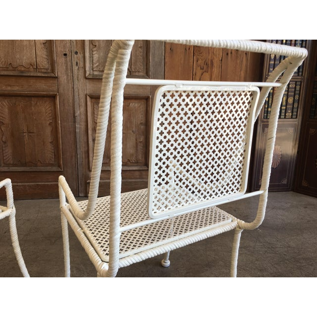 Mid-Century Modern Vintage Mid-Century Faux Rope Twist Patio Set - 5 Pieces For Sale - Image 3 of 13