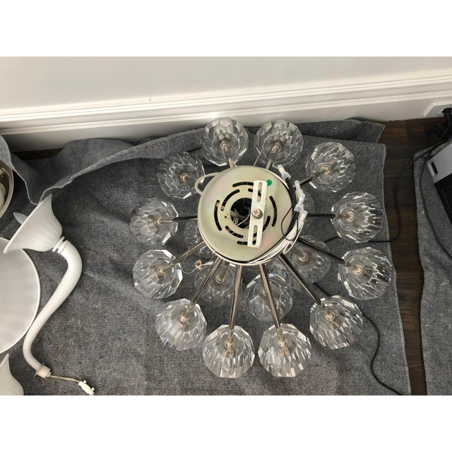 "Restoration Hardware Boule De Cristal Flushmount 24"" Polished Nickel For Sale - Image 9 of 10"
