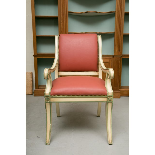 Regency Regency Style Painted Dining Chairs - Set of 6 For Sale - Image 3 of 12