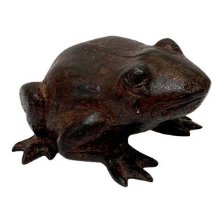 Chinese Bronze Frog Sculpture For Sale