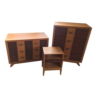 Mid-Century Modern Paul Frankl Dresser Set - 3 Pieces For Sale