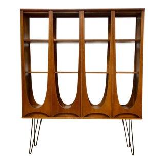 Broyhill Brasilia Walnut Mid Century Bookcase
