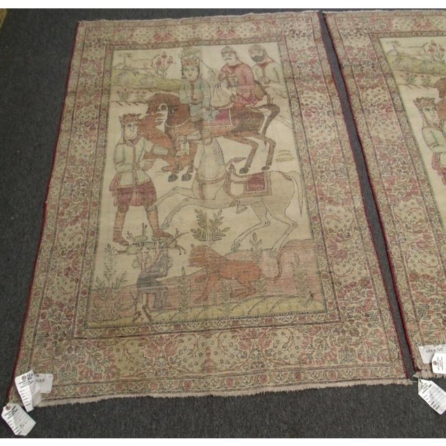 Late 19th Century Antique Handmade Pictorial Rugs - a Pair For Sale - Image 11 of 13