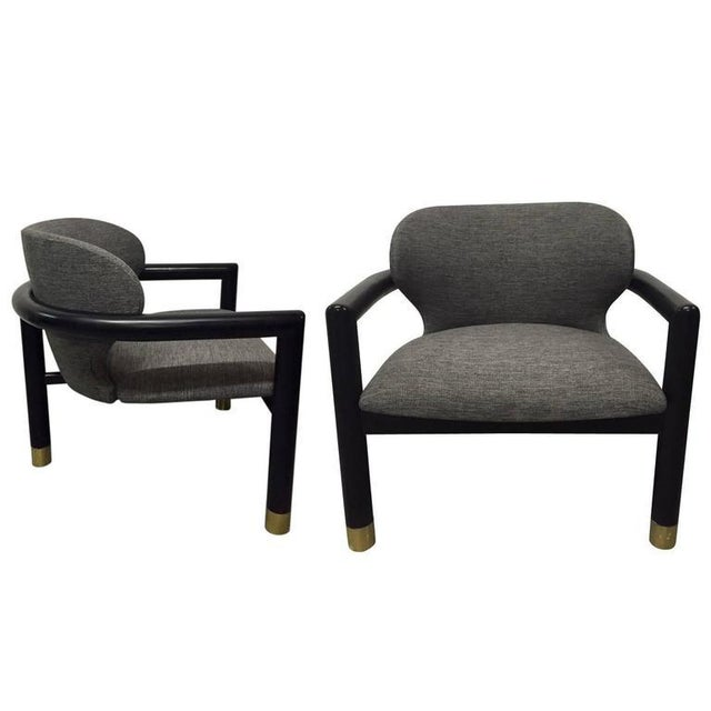 Pair of Sculptural Lounge Chairs For Sale In New York - Image 6 of 6