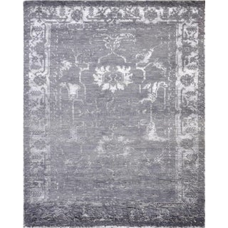 """Pasargad Home Silk Fusion Wool Area Rug- 9' 0"""" X 12' 0"""" For Sale"""