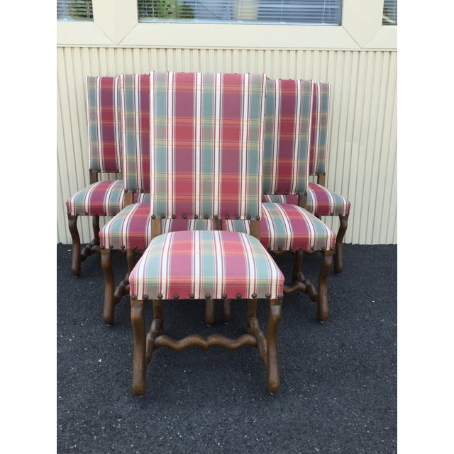 French Louis XIII Dining Chairs - Set of 6 - Image 2 of 7