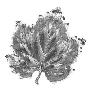 Buccellati Sterling Silver Leaf Trinket Dish For Sale