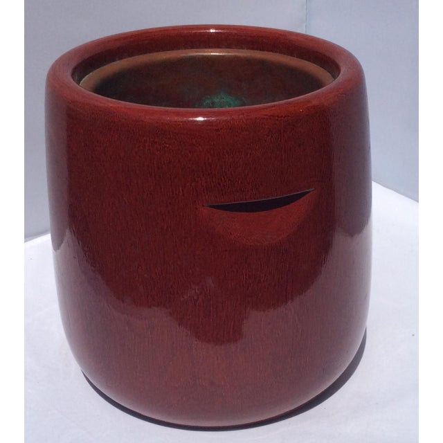 Meiji Era Japanese Red Lacquered Brazier For Sale In Miami - Image 6 of 6