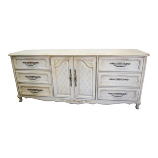 Louis XV Style Off White Dresser For Sale