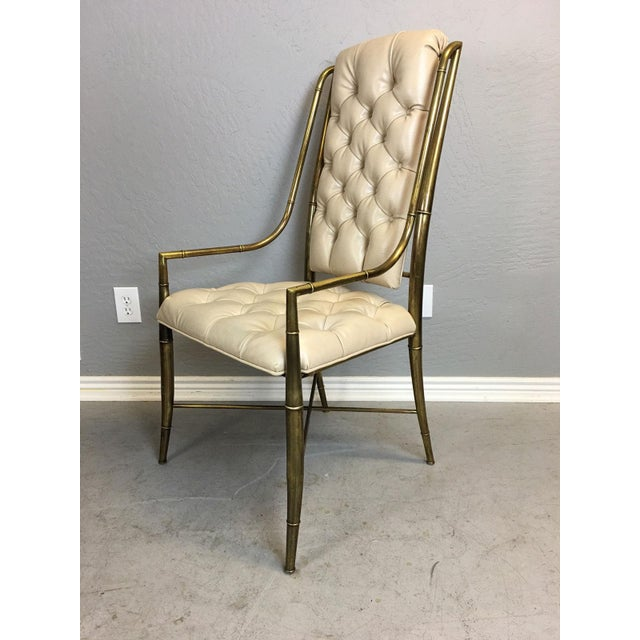 Mid-Century Modern Mastercraft Brass Dining Chairs - Set of 4 For Sale - Image 3 of 9