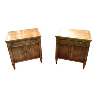 1960's Drexel Triune Cabinet Nightstands - a Pair For Sale