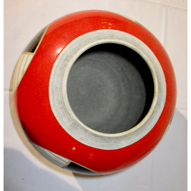 2000 - 2009 Red, Black and White Modern Jar For Sale - Image 5 of 6