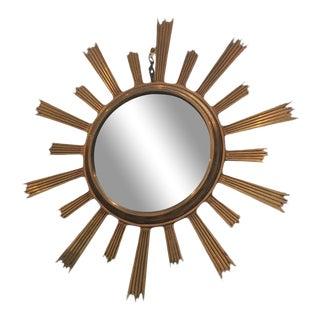 Gilt Bronze Sunburst Mirror For Sale