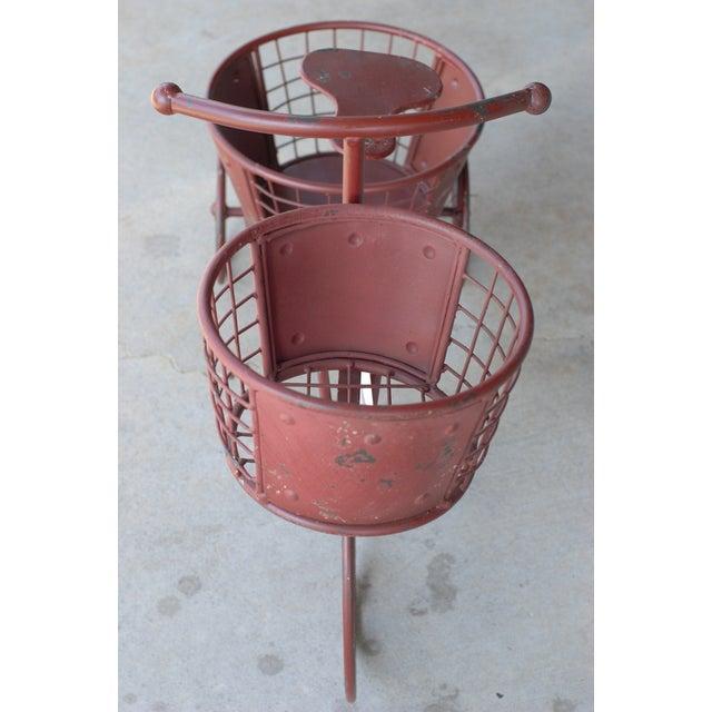 Nostalgic Red Metal Yard Bike Planter - Image 4 of 4