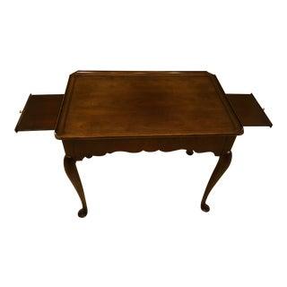1990s Queen Anne Cherrywood Tea Table