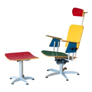 Michael Trebbe 'Google' Lounge Chair and Ottoman - a Set For Sale