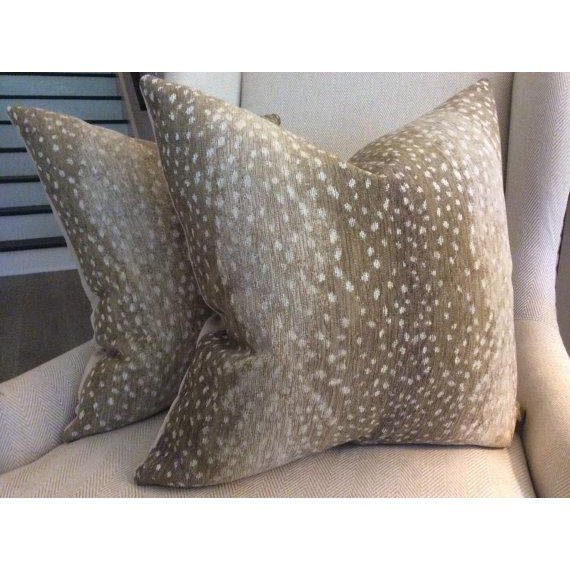 Antelope Chenille Pillows - a Pair For Sale - Image 4 of 5