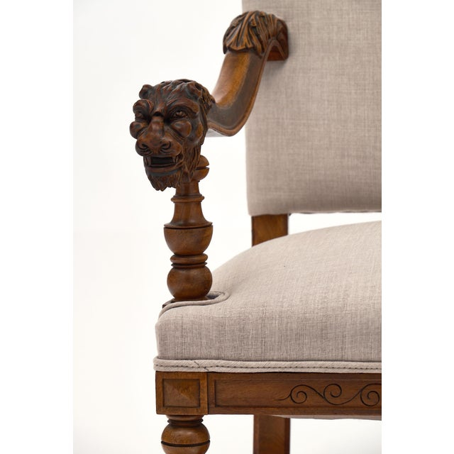 Late 19th Century Louis XIII Style French Armchairs For Sale - Image 5 of 10