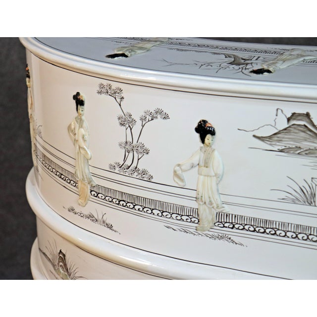 White Chinoiserie Carlton House Desk For Sale - Image 12 of 13