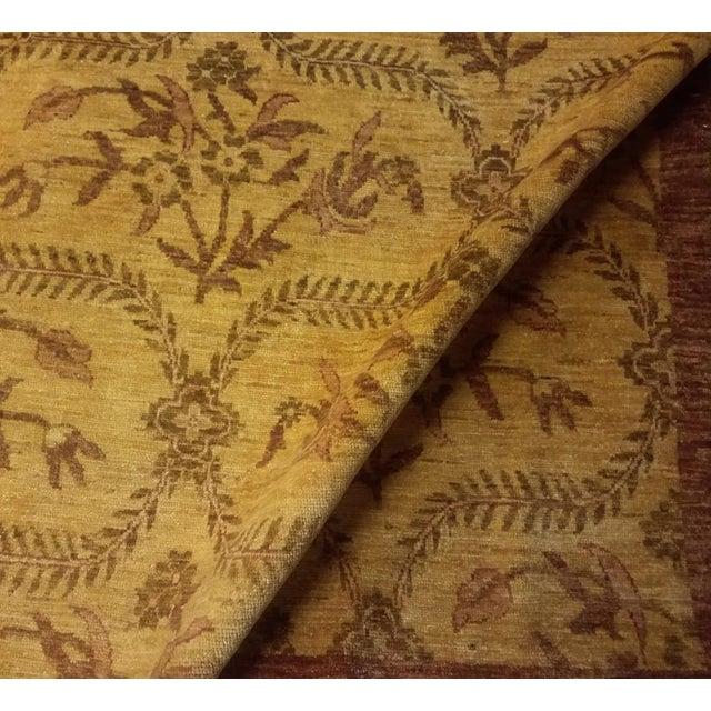 1990s Kafkaz Peshawar Coralee Gold & Purple Wool Rug - 8'10 X 12'0 For Sale - Image 5 of 7