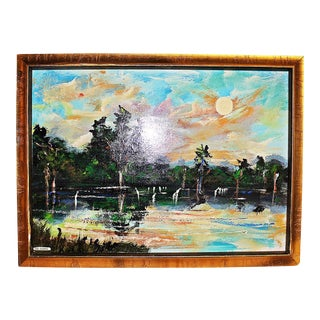 Florida Higwayman Painting, M. Sears For Sale