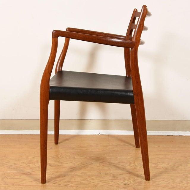 Møller Danish Modern Teak Dining Chairs- Set of 4 For Sale In Washington DC - Image 6 of 10