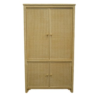 Late 20th Century Lexington / Henry Link Furniture Cream Television Media Armoire For Sale