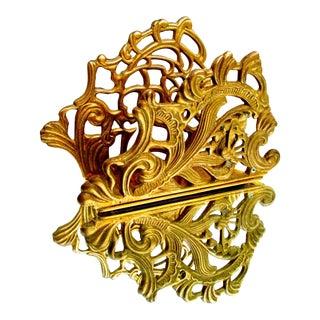 Vintage Brass Art Nouveau Letter Rack