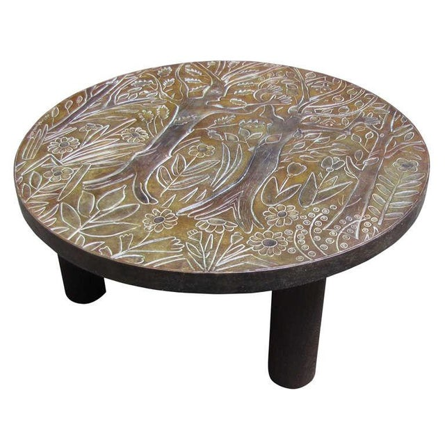 Wood 1940s Coffee Table by Helena Guastella For Sale - Image 7 of 7