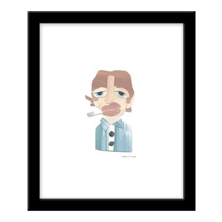 "Small ""Mick Jagger"" Print by Melvin G., 12"" X 14"""