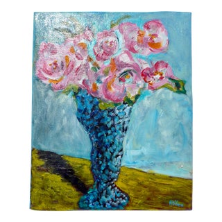 2003 Bouquet of Flowers Oil Painting For Sale