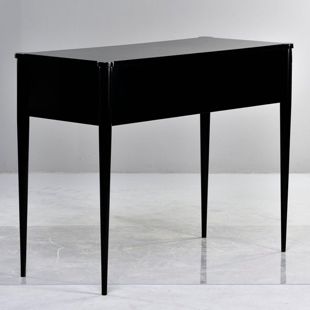 Metal Bespoke Ebonised Console With Vellum Drawers For Sale - Image 7 of 13