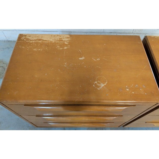 1960s Danish Modern Maple Dressers - a Pair For Sale - Image 9 of 12