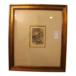 Framed Pierre-Auguste Renoir Etching Impressionist For Sale