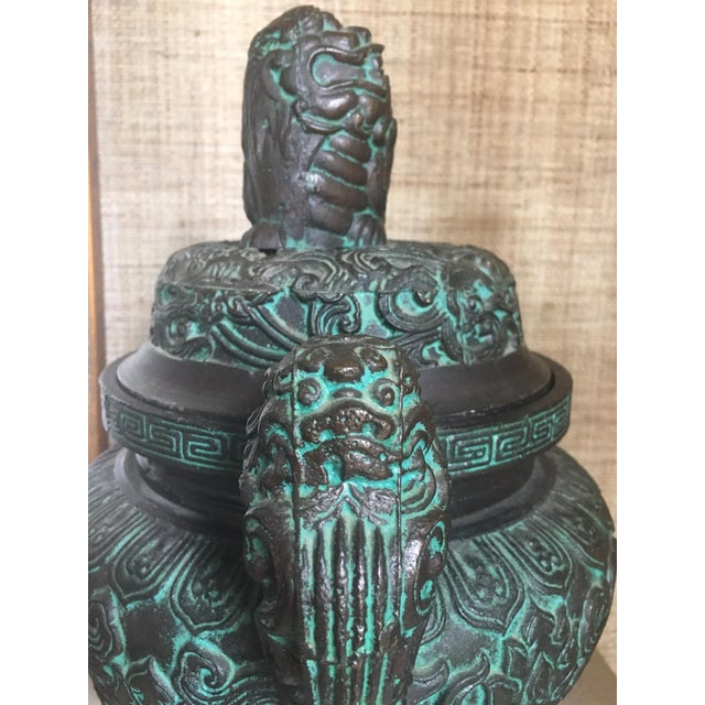 Midcentury James Mont Style Asian Style Greek Key Ice Bucket Urn For Sale - Image 9 of 13