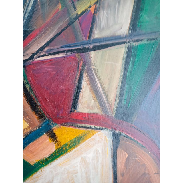 Late 20th Century Cubist Female Portrait Oil Painting, Framed For Sale - Image 4 of 8