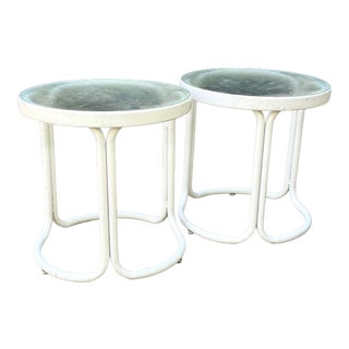 Mid Century Modern Brown Jordan Kailua Side Tables—a Pair For Sale