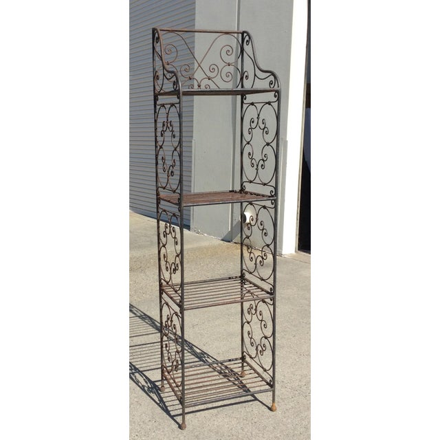 Scrolling Iron Etagere For Sale - Image 10 of 11