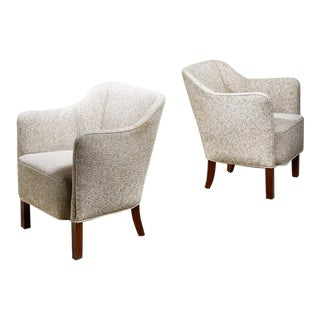 Pair of Danish Easy Chairs, 1940s For Sale